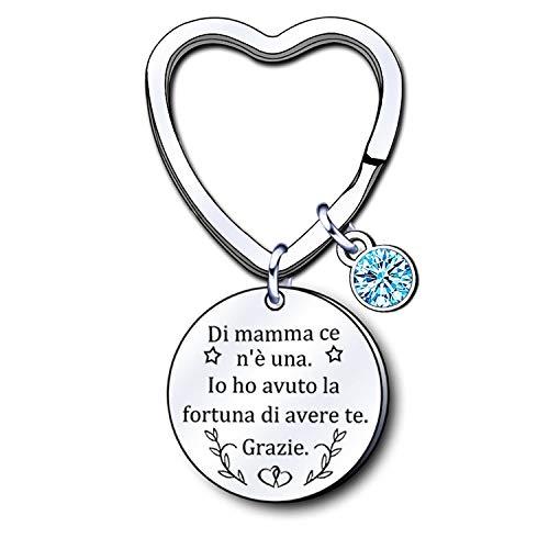 LUODAN Mamma Portachiavi, Regali Donna Gioielli,Ringraziamento,Regali Festa della Mamma,Regali di Compleanno,regali di famiglia, regali di Natale (1)