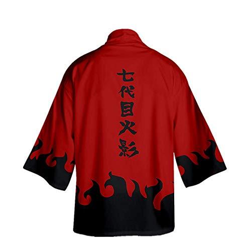 CHANGL Anime Naruto Peripherie Mantel Kleidung Täglich Lässig Kimono Unisex Adult Neuheit Cosplay für Partykostüme Hohe Qualität