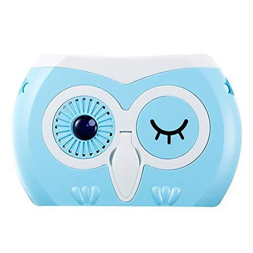 Bonbela Ventilador Personal portátil Mini Ventilador de Mano Recargable Ventilador del Escritorio del Cuello del Ventilador para el Recorrido al Aire Libre Senderismo