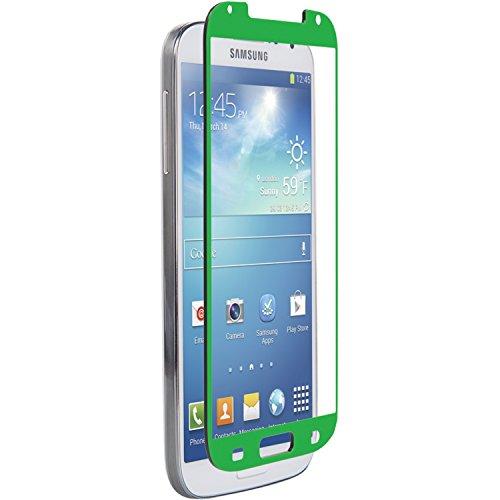 Znitro Displayschutzfolie aus Glas für Samsung Galaxy S4, in Einzelhandelsverpackung, Grün