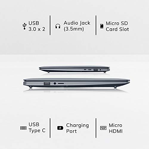 AVITA PURA NS14A6IND541-SGBKB 14-inch Laptop (AMD A9-9420E/8GB/256GB SSD/FHD Display/Windows 10 Home in S Mode/AMD Radeon R5 Graphics), Space Grey with 3 in 1 Sleeve (Black)