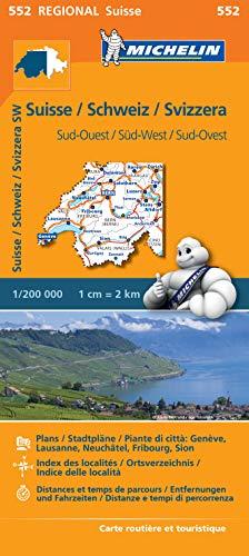 Michelin Schweiz Süd-West: Straßen- und Tourismuskarte 1:200.000 (MICHELIN Regionalkarten)