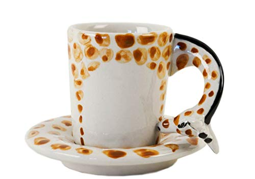 Life Arts Giraffe Handgemachtes Geschenk, Espresso-Tasse