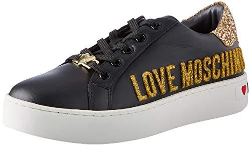 Love Moschino JA15643G0BJA0000, Sneaker Donna, Nero, 38 EU