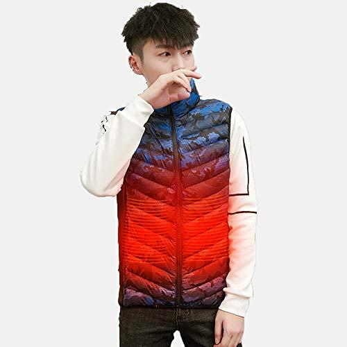 Verwarmd vest voor heren en dames, elektrische fever jack USB-oplaad-verwarmingsvest, warm jack met 3 facultatieve temperatuur voor outdoor-activiteiten wandelen