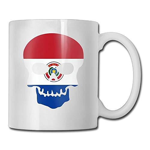 Koffie mok schedel Skeleton Paraguay vlaggen van landen op maat koffie mokken / 11oz keramische thee Cup - nieuwigheid geschenk