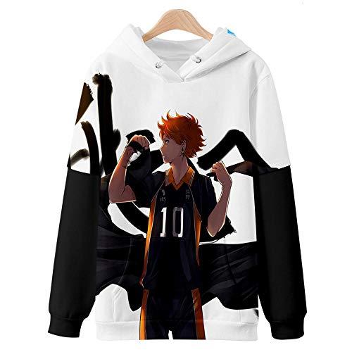 Manga Larga Hoodie Casual Camisa de Entrenamiento,Invierno Cálido Jersey De Manga Larga, Voleibol Adolescente Japón Impresión 3D Sudadera con Capucha para Hombres-Estilo P_SG