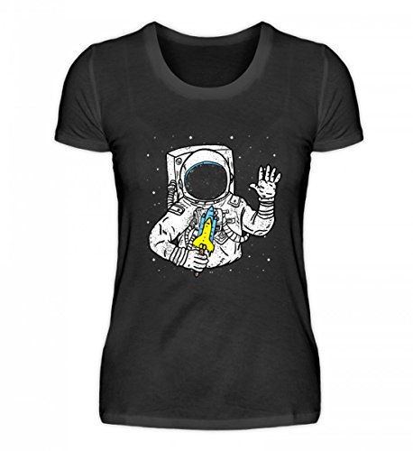 EBENBLATT Hochwertiges Damenshirt - Lustig Astronaut EIS Wassereis Rakete