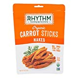 RHYTHM SUPERFOODS, CARROT STICKS, OG2, NAKED, Pack of 12, Size 1.4 OZ - No Artificial Ingredients Gluten Free Kosher Vegan 95%+ Organic