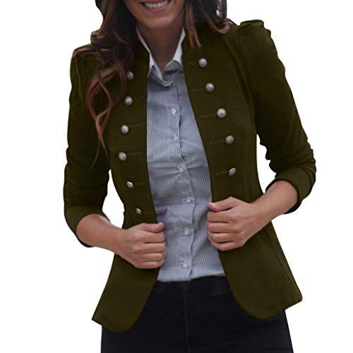 Sannysis Damen Punk Jacke Steampunk Gothic Blazer Retro Frack Jacke Barock Vintage Viktorianischen Kurzer Blazer Freizeit Smoking Uniform Outwear