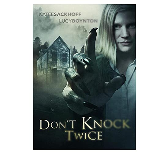 Wsxyhn Poster und Drucke Don't Knock Twice Filmplakat Wandkunst Dekoration Bild für Wohnzimmer Dekor -50x70 cm Kein Rahmen 1PCS