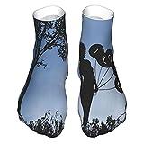 OUYouDeFangA Romántico Niña Noche Silueta Adulto Calcetines Calcetines Cortos Algodón Divertidos Para Yoga Senderismo Ciclismo Correr