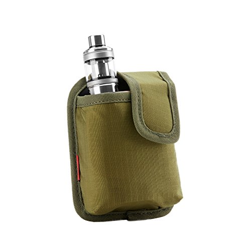 Vape Carrying Bag - Secure, Organized, Portable, Premium Vapor Pouch - Fits Medium Mechanical Box Mods & Tank Holder - Wick and Wire (Medio Green)
