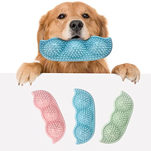 3Pcs Dog Chew Toy Puppy Teething Toy Soft Dog Tooth Brush Toys for Teething (STYLE01)