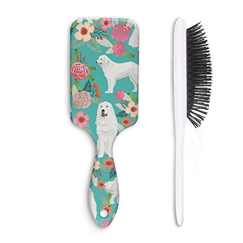 Hair Brush Floral Pyrenees Great Brush