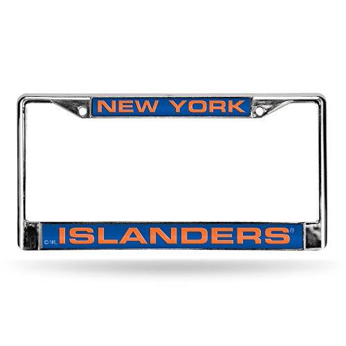 NHL Laserrahmen, verchromt, NHL Rico New York Islanders Laser Chrome Frame, Teamfarbe, 6 x 12.25-inches