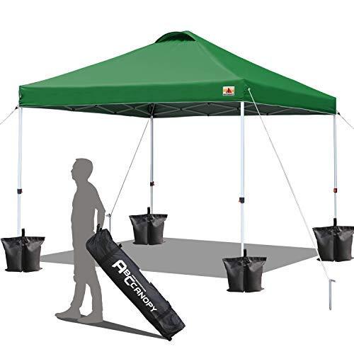ABCCANOPY Patio 2.5x2.5 Gazebo Fully Sunproof Heavy Duty Pop Up Gazebo+Wheel bag(2.5x2.5 forest green)
