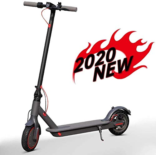Scooter eléctrico, 350W motorizado Scooter portátil plegable E-Scooter con luz LED y llantas de goma sólida Pantalla 8.5inch Carga máxima 264lbs velocidad máxima 25 km / h en adultos y adolescentes