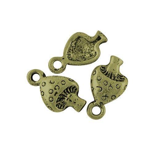 Charming Beads 30 x Steampunk Antik Bronze Tibetanische 13mm Charms Anhänger (Pilz) - (ZX09300)