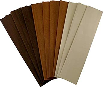 Crepe Paper Folds  10 pcs  - 20 inches Wide by 6.2 ft Long - Mexican Crepe Paper - Assorted Colors  Shades of Brown