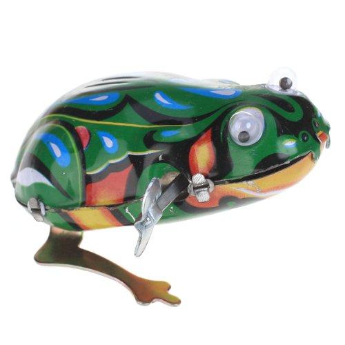 Reizende Vintage Wind up Spielzeug Eisen Springenden Frosch