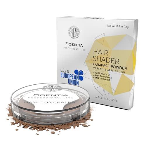 Fidentia Hair Shader 12g   Made in EU   Haar Concealer Puder zur Haarverdichtung, Ansatz & Geheimratsecken kaschieren - Mittelbraun