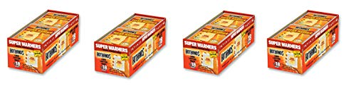 HotHands Body & Hand Super Warmers - Long Lasting Safe Natural Odorless Air Activated Warmers - Up to 18 Hours of Heat - 40 Individual Warmers, 4 Pack