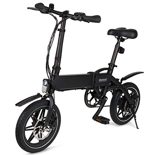 WHIRLWIND C4 Lightweight 250W Electric Bike Adult Foldable Pedal Assist E-Bike with LG Battery, Assembled in UK - Black