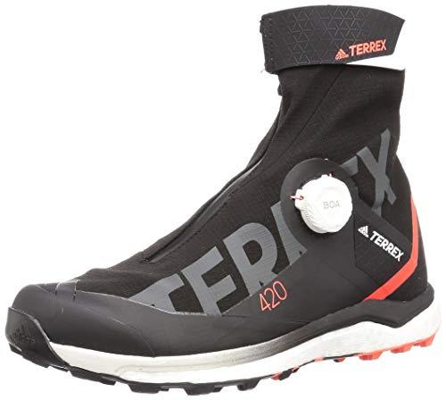 adidas Bota Terrex Agravic Tech Pro, Botas de Senderismo Hombre, Core Black/FTWR White/Solar RE, 45 1/3 EU