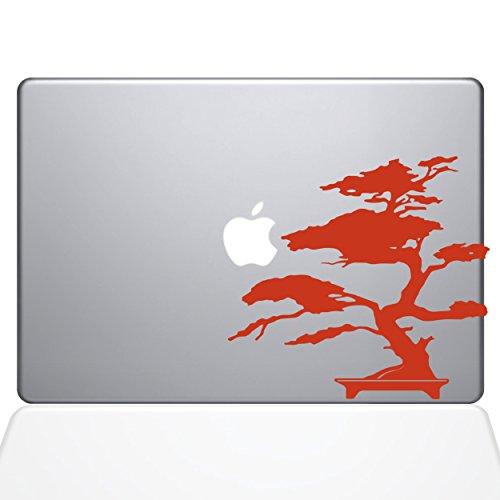 The Decal Guru 2095-MAC-12M-P Bonsai Tree Decal Vinyl Sticker, Orange, 12' MacBook
