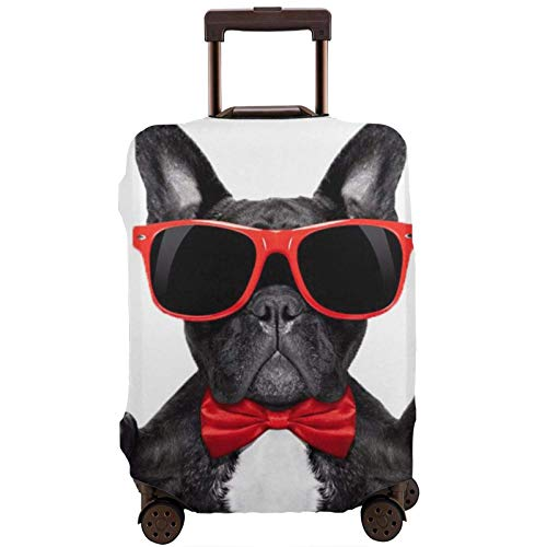French Bulldog Printed Travel Luggage Cover,Elastic Suitcase Cover Luggage Protector Fits 18-32 Inch Suitcase