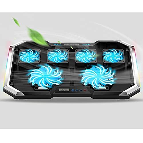 BWCGA Ajustable de Control de Velocidad del Ventilador de Acero Acoplamiento del Panel del LED de 10'-17' Laptop Cooling Pad, Game Master