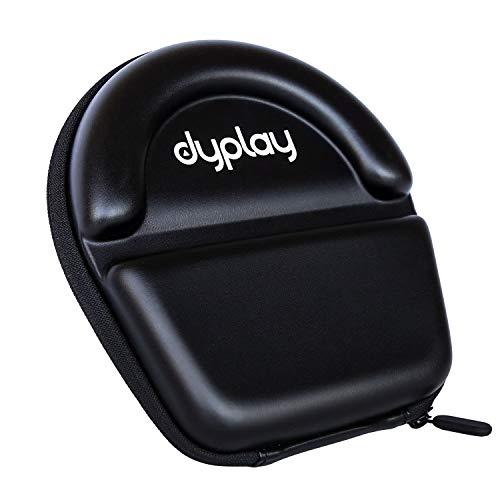 dyplay - Funda protectora para auriculares de diadema, funda de viaje, caja de almacenamiento con espacio para auriculares, auriculares, cable, piezas y accesorios