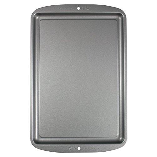 PME CSB114 Plaque à Pâtisserie Moyenne Anti-adhérente en Acier au Carbone 382 x 254 mm de Profondeur, Silver, 42,6 x 27 x 1,7 cm