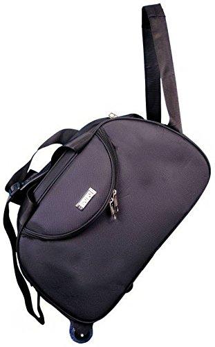 N Choice Black Solid Expandable Duffle Bag