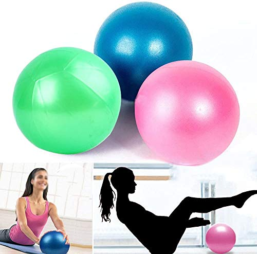 SJBF Yoga Ball 10PCS Yoga Gymnastikball Gym Pilates Gleichgewicht Ausübung Fitness-Luftpumpe Anti Burst Dropship (Color : Pink)