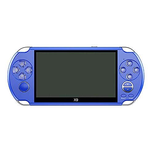 Retro Video Consola De Juegos, Consola De Juegos Portátil para Adultos De Los Niños para PSP Viat Retro Games 5.1 Pulgadas De Pantalla De Salida De TV con La Cámara MP3 Película,Azul