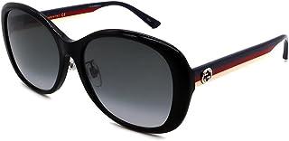 غوتشي GG0849SK 002 نظارة شمسية للنساء عدسات بلون أسود/رمادي دائرية 59 ملم
