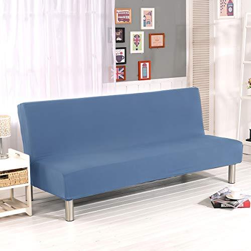WINS Funda de sofá Cama 3 plazas Fundas Sofa Click clack sin Brazos Funda de sofá Cama Plegable elástica Fundas Clic clac Azul grisáceo