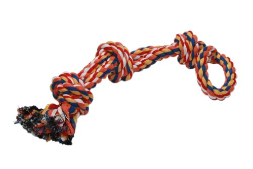 Nobby Rope Toy, Spielseile bunt 3 Knoten dopelt; 580 g