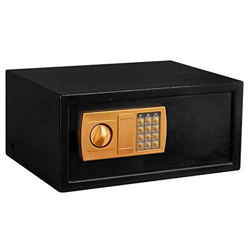 LHSUNTA Cajas & Organizadores Caja fuerte con teclado numérico 16.9 x 12.9 x 7.8 pulgadas para el hogar, oficina o cheque de efectivo, color negro