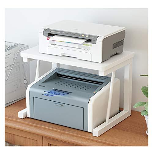Soportes para impresoras Los estantes de la Impresora de Escritorio de Madera de Almacenamiento en Rack Tabla de la Oficina Organizador del hogar multifunción de Almacenamiento en Rack Vertical de la
