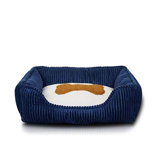 Vicky Kleine Medium Huisdier Hond Bed Hondenmand voor Grote Honden Corduroy, L75x63x18cm, B