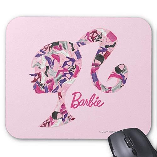 Alfombrilla de ratón con logotipo de cabeza de accesorio de Barbie 18 cm x 22 cm