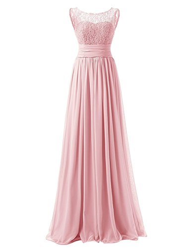 Carnivalprom Damen A-Linie langes Schnuerung Prinzessin Abendkleid Brautjungfer Cocktail Party Kleid (Erröten,44)