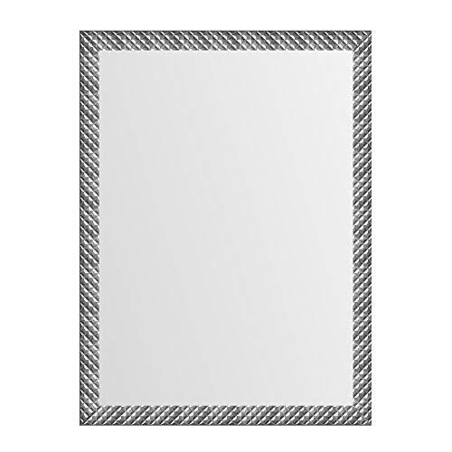 Espejo de Pared Moderno Plateado de plástico de 76x56 cm - LOLAhome