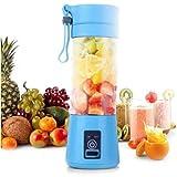 Mini Liquidificador Mixer Juice Usb Garrafa Portatil Coquete (azul)