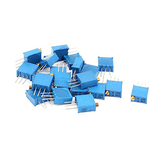 X-DREE 20 Pcs high Performance 3296W 10K ohm Multiturn Essential Potentiometer Pot Variable Well Made Resistor