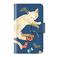【Xperia 10 II SO-41A / SOV43 / A001SO】 ケース 手帳型 アニマル 動物 癒し系【02.いたずら白ネコ】 カード収納 ストラップホール 全面保護 マグネット