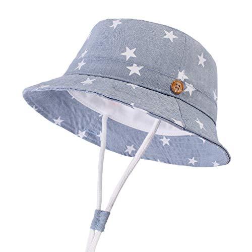 DRESHOW Baby Sun Hat Toddler Sun Protection Animal Cap Unisex Summer Bucket Hat with Chin Strap UPF 50+
